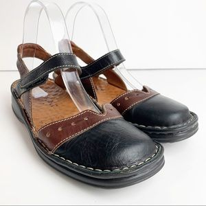 Josef Seibel Air Massage Leather Mary Janes Shoes